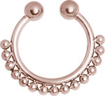 ROSE GOLD FAKE SEPTUM KUGELREIHE