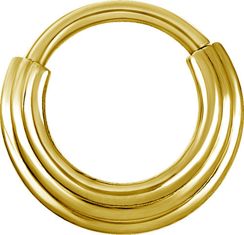 SEGMENT CLICKER GOLDFARBEND, 3 RINGE 1,2mm